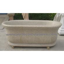 Bañera de mármol del granito de la piedra para los muebles del cuarto de baño (QBN073)