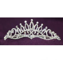Fashion Custom Shiny Crystal Bridal Crown Wedding Tiara