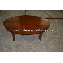 Mesa de centro oval de madera maciza XY0819