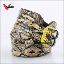 Mais popular design popular serpente pele pu cinto