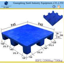 9 Feet HDPE Solid Deck Standard Plastic Pallet Size