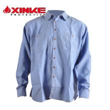 Camisa lisa formal de lino de alta calidad de las mangas medias del zulú de qulity