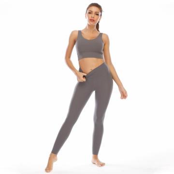 Zwei Stücke Workout Sexy Frauen Yoga Set