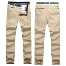 Pantalones chinos de la tela cruzada del estiramiento clásico de los hombres al por mayor