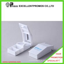 Werbeartikel gedruckt Logo Kunststoff Pille Spender mit Cutter (EP-P0903)