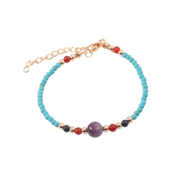 3MM Round Beads Turquoise Gemstone Chakra Bracelet for women Men