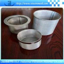 Cilindro de filtro de acero inoxidable 316L