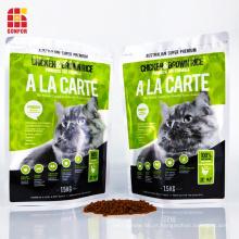Sacos de comida de gato Sacos de alimentos para animais de estimação Sacos de embalagem de alumínio