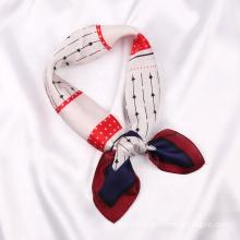 New Design Stylish Women Silk Scarves Bondage Office Lady Gift Party Satin Square Neck Scarf