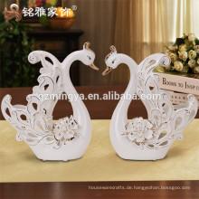 Fabrik Keramik Schwan Statue für zu Hause Dekoration Keramik Handwerk und Kunst Schwan Procelain Keramik Geschenk