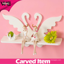 Fashion Waterproof White Swan Decorative Modern Wall Shelves