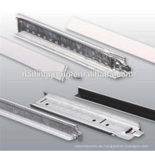 Ebene Decke T Gitter weiß und schwarz Farbe Stahl t bar