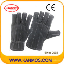 Dark Color Sewed Industrial Safety Cotton Work Gloves (41021)