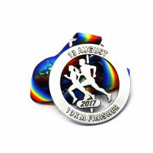 Medalla de maratón giratorio de característica circular personalizada