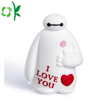 Fat Baymax Powerbank Case White Silicone Battery Protector