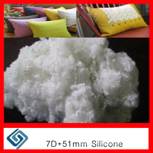 Staple Spandex Polyster Fiber for 4-Hole Fiber