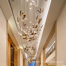 Luxuriöse benutzerdefinierte Villa Lobby goldene Petaloid Kronleuchter Lampe