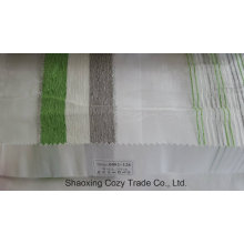 New Popular Project Stripe Organza Voile Sheer Curtain Fabric 0082128