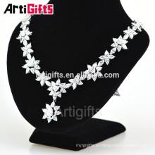 Artigifts Fashional Wedding Necklace Designs Collar de circón colgante de gota de agua chispeante 2016