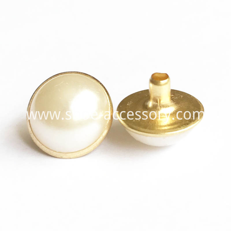 pearl rivets 12mm gold brushed finish