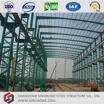 Workshop pré-fabricado da estrutura de aço da coluna da seção de Latice