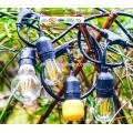 Lumières extérieures de chaîne imperméables - énumérées par UL - 15 douilles accrochantes - lumières parfaites de patio UL