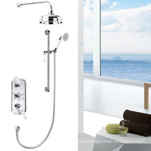 Hot sale Triple handles Traditional concealed shower mixer with 8''shower head TMV