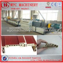 WPC Linha de Produção - PVC e madeira composto WPC decking, porta estrutura, janela perfil linha de produção