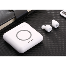 White Bluetooth Earphone True Wireless Earphone