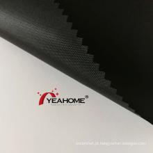 Tecido de poliéster Oxford preto com revestimento de poliéster Tecido de capa automotiva