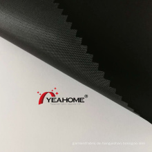 Schwarze Farbe PU-Beschichtung Polyester Oxford Stoff Auto Cover Stoff