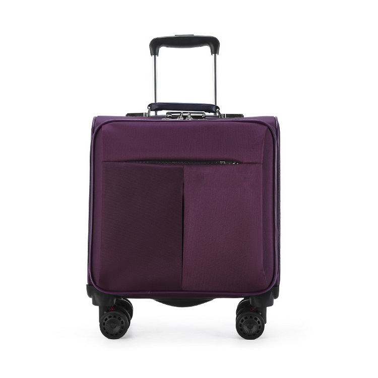 Purple trolley bag