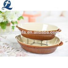 Forno de cerâmica não tóxico de alto brilho e textura superior