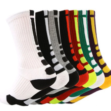 Stock lot men elite calf socks sport thick basketball cotton socks
