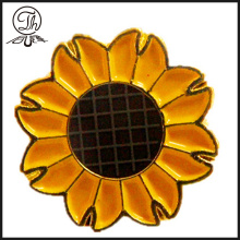 Broche de tournesol or badges métal broche