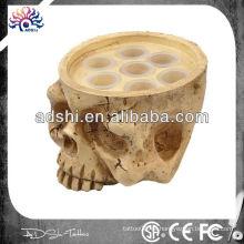 Alta calidad novedad tatuaje accesorios de plástico de tinta titular de la Copa cráneo esqueleto titular