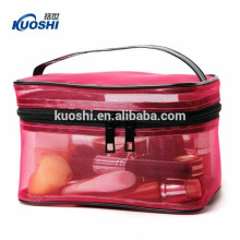 transparent pvc clear cosmetic bag with logo