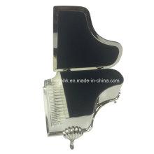 Серебряная шкатулка для драгоценностей, коробка для украшений для пианино
