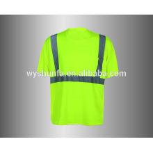 100% полиэфирная защитная футболка защитная одежда для мужчин Безопасность Одежда Оптовая торговля