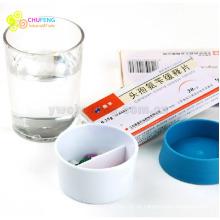 taza de agua con la caja de la píldora botella de agua portátil con la caja de la píldora caja de píldoras botella de agua