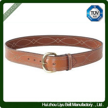 Custom Genuine Leather Fancy Stitch Belt