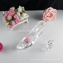 Хрустальное стекло обувь коллекционная фигурка подарок ГКГ-044