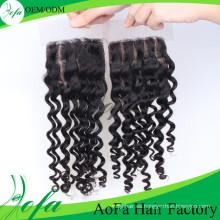 Fácil de teñir Remy Indian Hair Pieces Lace Closure