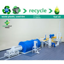 waste tire pyrolysis plant/used tyre reycling machine to fuel oil