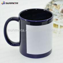 Taza de cerámica revestida cerámica del remiendo de la sublimación en blanco