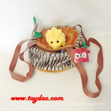 Plush Animal Tree Hollow Handbag