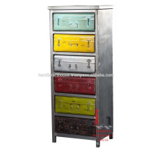 Industrial metal tall drawers cabinet