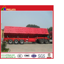Hard Steel Hydraulic Tipping Cargo Truck Trailer Side Tipper