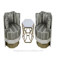 CANOSA Chinese sea shell inlaid wood sofa living room furniture