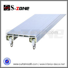 double rail curtain track accessories aluminum and plastic